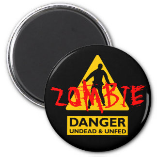 Zombie Undead & Unfed 2 Inch Round Magnet