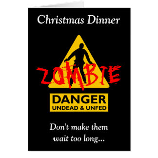 Zombie Undead & Unfed Christmas Card