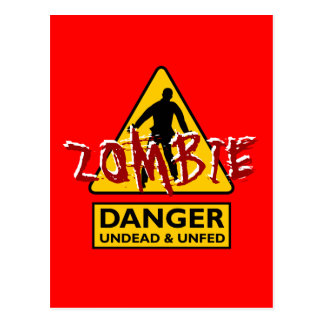 Zombie Undead & Unfed Postcard