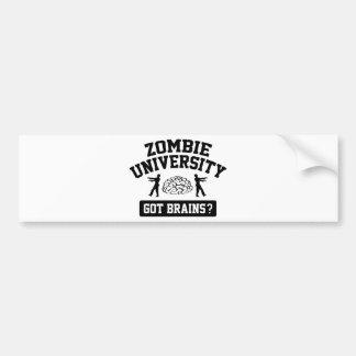 Zombie University Bumper Sticker