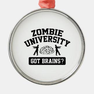 Zombie University Metal Ornament