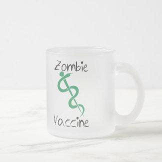 Zombie Vaccine Frosted Glass Coffee Mug