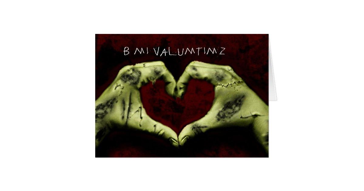 zombie valentine card  Zazzlecom