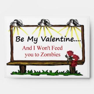 Zombie Valentine Envelope