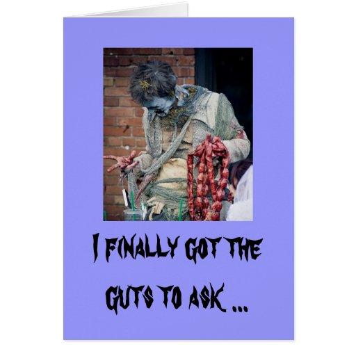 Zombie Valentine Greeting Card