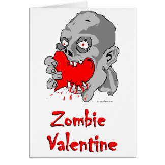 Großartig Zombie Valentine Greeting Card