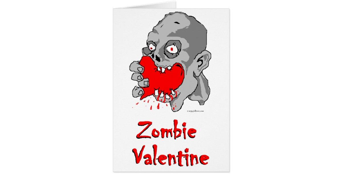 Zombie valentine greeting card zazzle