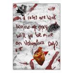 zombie valentine peom greeting card