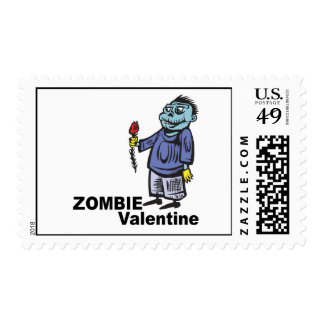 Zombie Valentine Postage Stamps