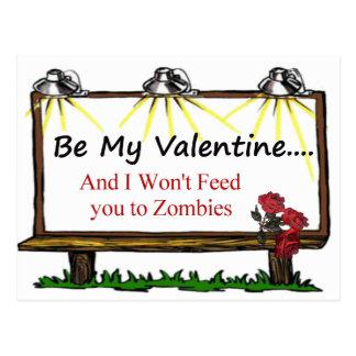 Zombie Valentine Postcards