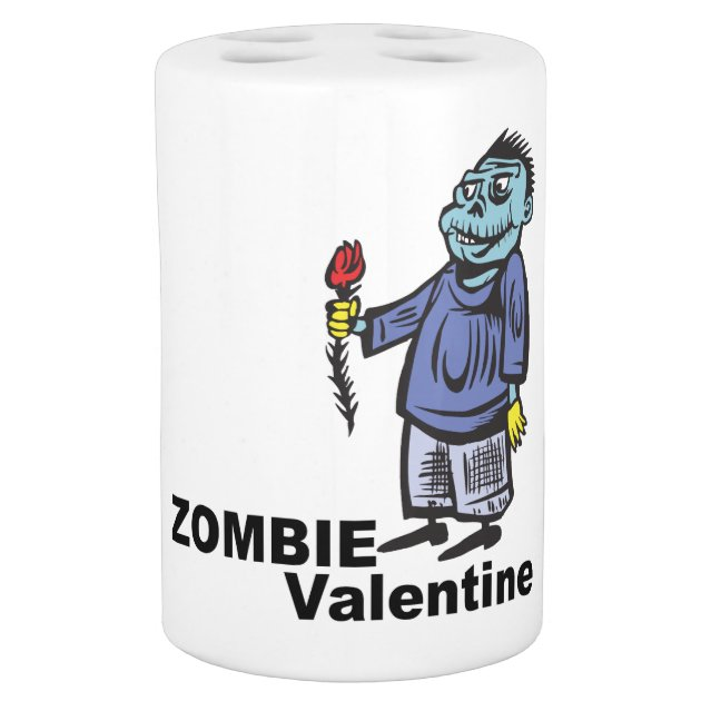 zombie valentine soap dispenser  u0026 toothbrush holder