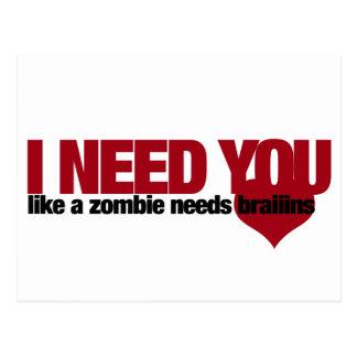 Zombie Valentines Day Postcard