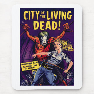 Zombie - Vintage Horror Comic Mouse Pad