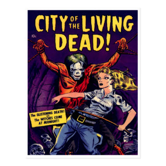 Zombie - Vintage Horror Comic Postcard