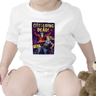 Zombie - Vintage Horror Comic Baby Bodysuits