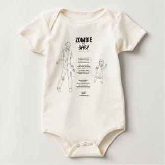 Zombie vs. Baby Baby Bodysuit