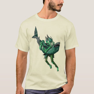 Zombie vs Shark T-Shirt