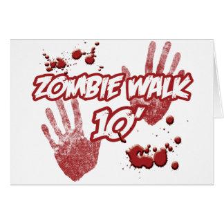 ZOMBIE-WALK-10' CARD
