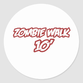 Zombie Walk 10' Stickers