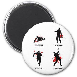 zombie walker crawler 2 inch round magnet