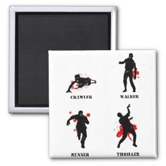 zombie walker crawler 2 inch square magnet