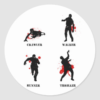 zombie walker crawler sticker
