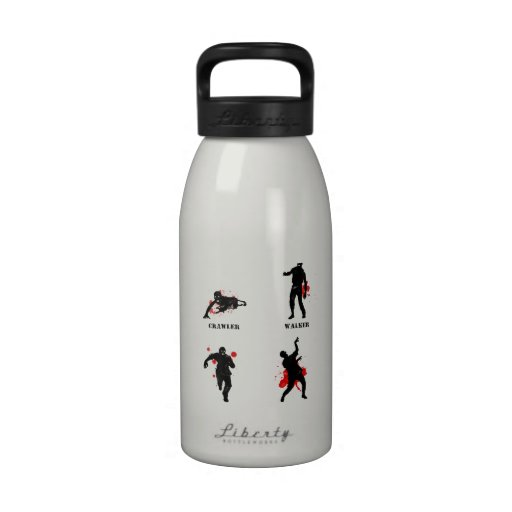 zombie walker crawler water bottle