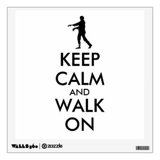 Zombie Wall Decal Keep Calm Walking Silhouette