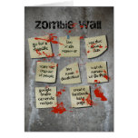 Zombie Wall Greeting Cards
