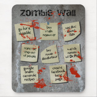Zombie Wall Mouse Pad