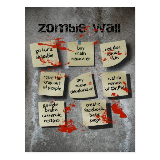 Zombie Wall Post Cards