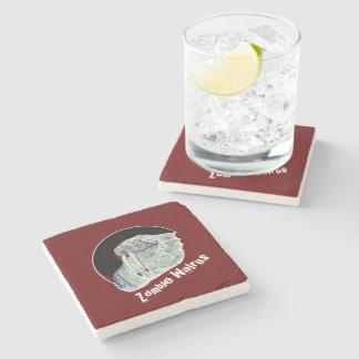 Zombie Walrus Stone Beverage Coaster