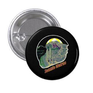 Zombie Walrus Yellow/Purple Pinback Button