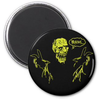 Zombie Wants Brains 2 Inch Round Magnet