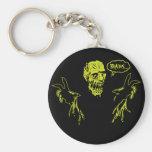 Zombie Wants Brains Key Chain