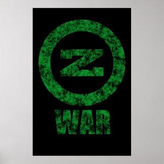 Zombie War (green logo) Poster