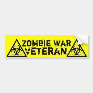 Zombie War Veteran - Bumper Sticker Car Bumper Sticker