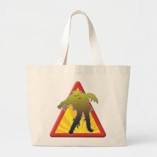 Zombie Warning Tote Bag