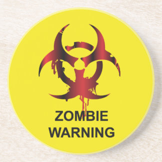 Zombie Warning Drink Coaster