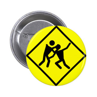 Zombie Warning Road Sign 2 Inch Round Button