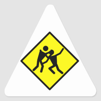 Zombie Warning Road Sign Triangle Sticker