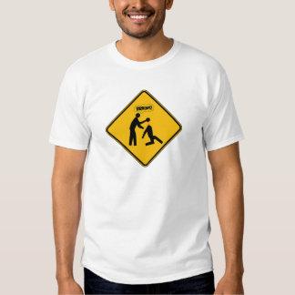 Zombie Warning Sign T Shirt