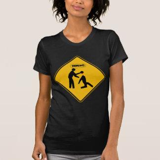 Zombie Warning Sign T Shirts