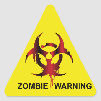 Zombie Warning Stickers