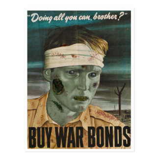 Zombie wars: Buy war bonds! Postcard