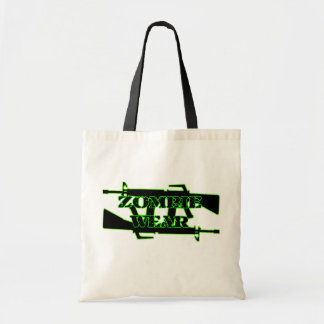 Zombie Wear Machine gun Tote Bag
