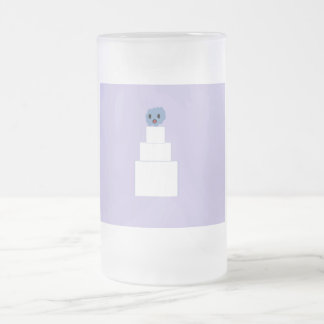 Zombie Wedding Cake Frosted Glass Beer Mug