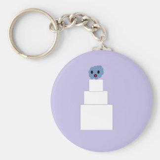 Zombie Wedding Cake Basic Round Button Keychain