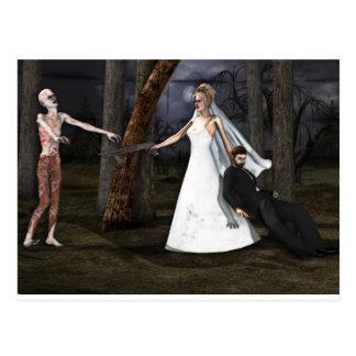 Zombie Wedding Postcard