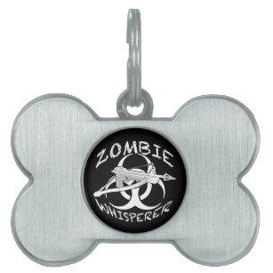 zombies pet tags for dogs cats zazzle Radioactive Girl zombie whisperer 4w pet tag